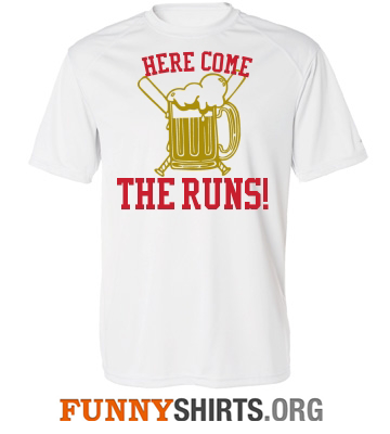 Here Come The Runs Funny Softball Shirt