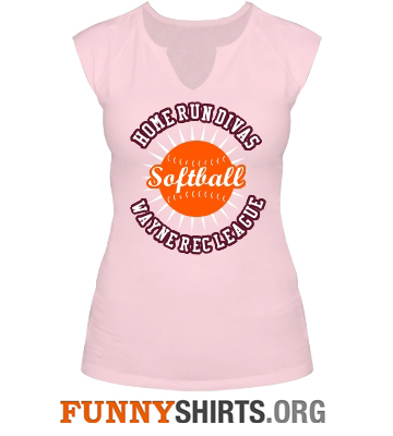 Home Run Divas Funny Softball Shirt