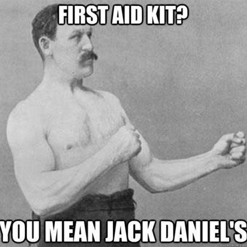 Man's first aid kit