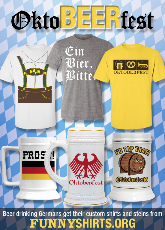 Oktoberfest Shirts and Oktoberfest Steins