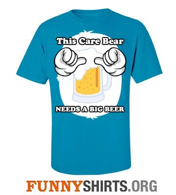 This bear needs a big beer funny shirt