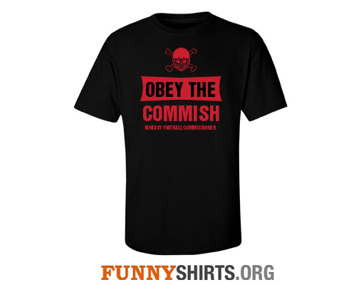 Fantasy Football Shirts Obey the Commish