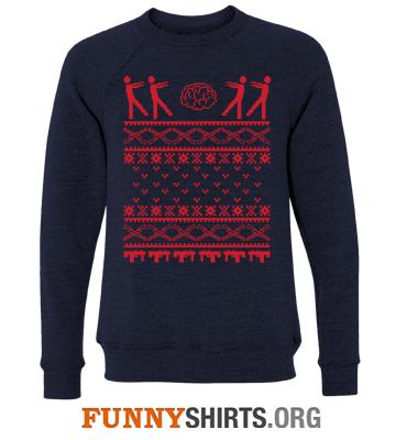 Christmas Sweatshirt Zombie