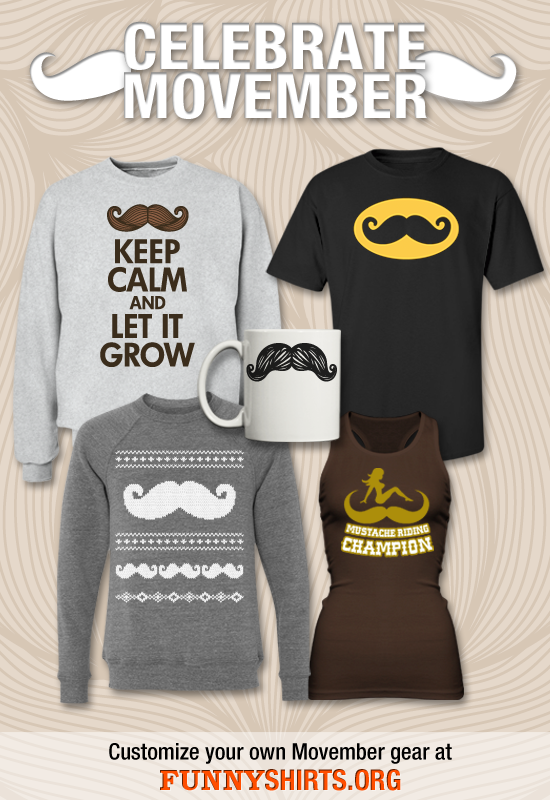 Mustache Shirts for Movember