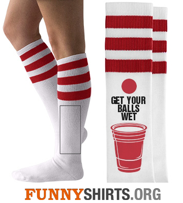 Funny Socks Get Your Balls Wet