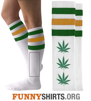 Funny Socks Marijuana Pot Line