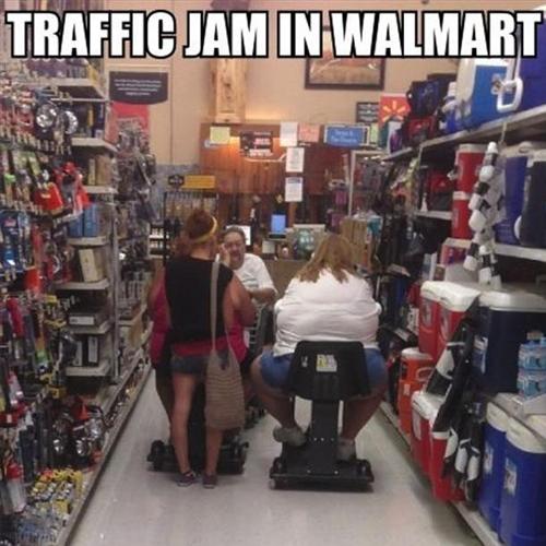 Wal-Mart Traffic Jam
