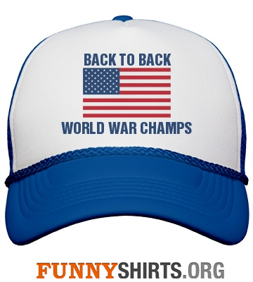 Funny hat back-to-back world war champs