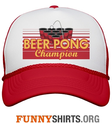 Funny hat beer pong champion
