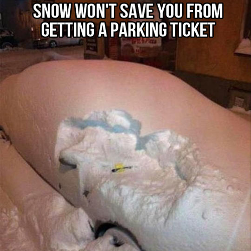 Snow parking ticket