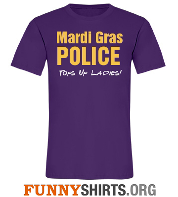 Mardi Gras Shirt Tops Up Ladies