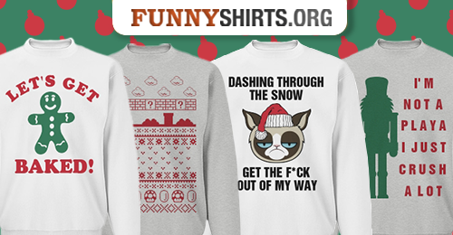 The Top Ten Funniest Ugly Christmas Sweaters - FunnyShirts.org Blog