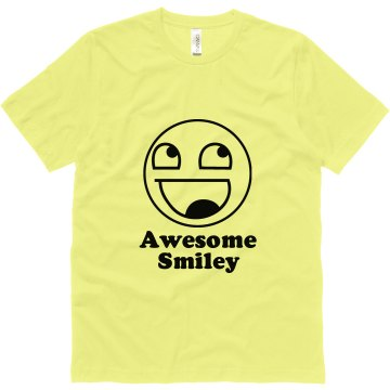 Awesome Smiley Unisex Canvas Jersey Tee