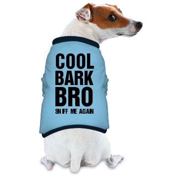 Cool Bark Bro Doggie Skins Dog Ringer Tee