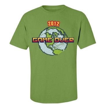 Earth Game Over Unisex Gildan Heavy Cotton Crew Neck Tee