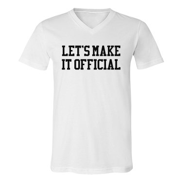 Let's Make It Official Unisex Canvas V-Neck Jersey Tee