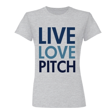 Live Love Pitch Junior Fit Basic Bella Favorite Tee