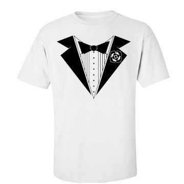 Party Tuxedo Unisex Basic Gildan Heavy Cotton Crew Neck Tee