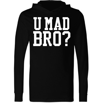 U Mad Bro? Hooded Jersey Unisex Canvas Long Sleeve Jersey Hoodie